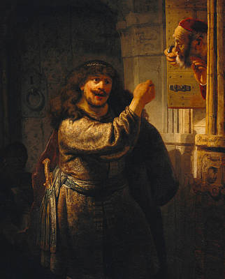 Samson Threatening His Father-in-law Poster by Rembrandt