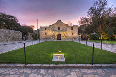 San Antonio Alamo Before Sunrise 2 Poster by Rob Greebon
