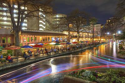 San Antonio Images - The Riverwalk At Night 2 Poster by Rob Greebon