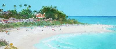 San Clemente Beach Panorama Poster by Jan Matson