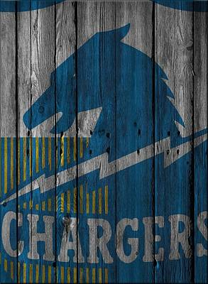 San Diego Chargers Wood Fence Poster by Joe Hamilton