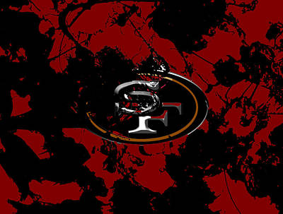 San Francisco 49ers 1b Poster by Brian Reaves