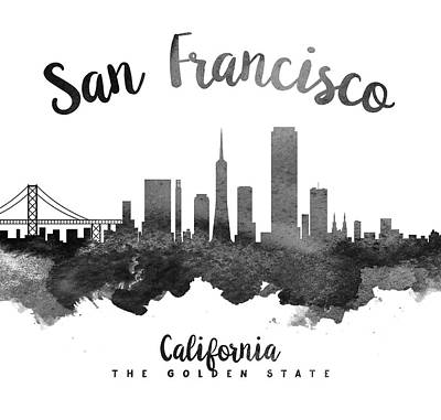 San Francisco California Skyline 18 Poster by Aged Pixel