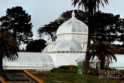 San Francisco Conservatory Of Flowers At Golden Gate Park . 7d5849 Poster by Wingsdomain Art and Photography
