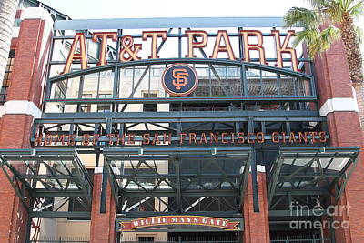 San Francisco Giants Att Park Willie Mays Entrance . 7d7635 Poster by Wingsdomain Art and Photography