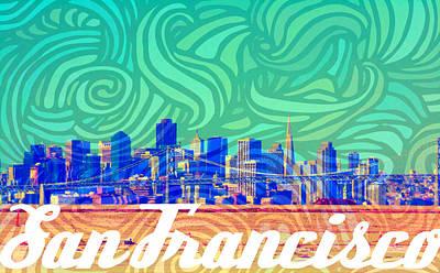 San Francisco Postales Poster by Michelle Dallocchio