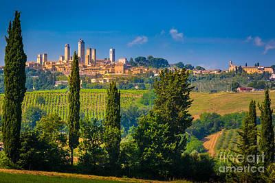 San Gimignano Poster by Inge Johnsson