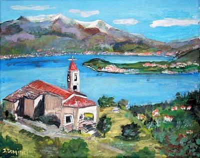 San Martino In Lake Como Poster by Teresa Dominici