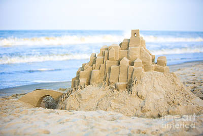 Sand Castle Poster by Diane Diederich