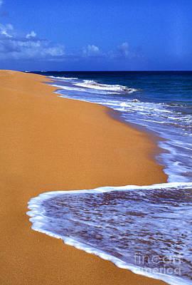 Sand Sea Sky Poster by Thomas R Fletcher