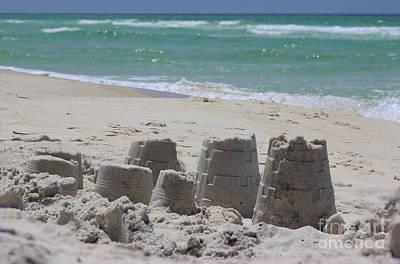 Sandcastles Poster by Karen Adams