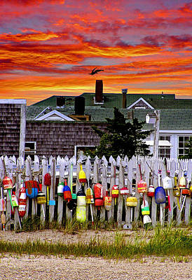 Sandy Neck Sunset Poster by Charles Harden