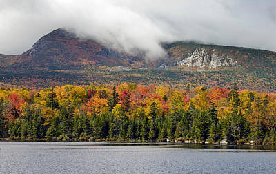 Sandy Stream Pond In Baxter State Park Maine Autumn Poster by Brendan Reals