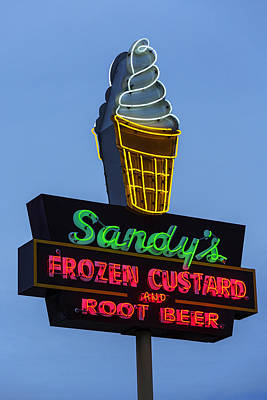 Sandys Frozen Custard - Austin Poster by Stephen Stookey
