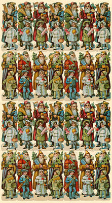 Santa Claus With Children Poster by American School