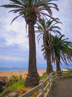Santa Monica Beach Poster by Impressionist Art