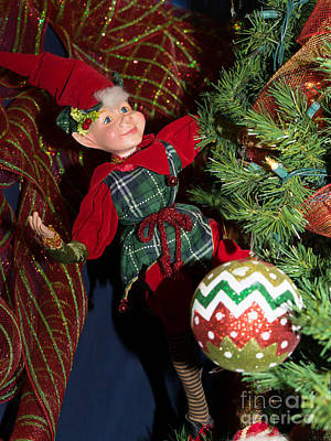 Santas Little Helper In Petaluma California Usa Dsc3767 Poster by Wingsdomain Art and Photography