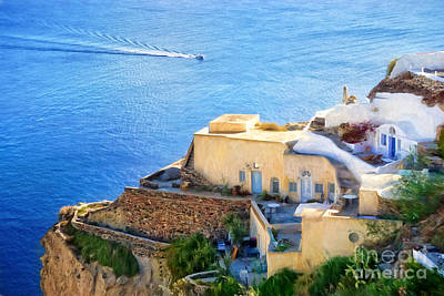 Santorini Greece Poster by HD Connelly