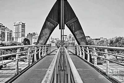 Sao Paulo City Symmetries Poster by Carlos Alkmin