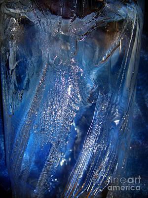 Sapphire Ice Poster by Sofia Goldberg