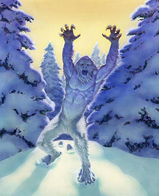 Sasquatch Poster by Richard Hescox