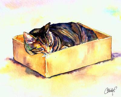 Sassy Sleeping Poster by Christy  Freeman
