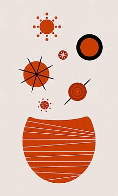Scandinavian Floral Poster by Frank Tschakert