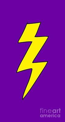 Scott Pilgrim Vs The World Lightning Bolt Poster by Paul Telling