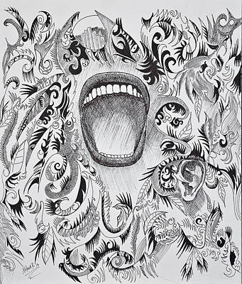 Scream Poster by Nelson Rodriguez