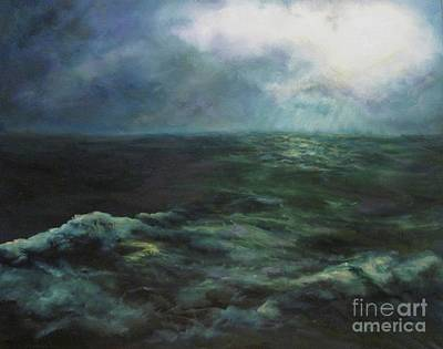 Sea And Sky Poster by Diane Kraudelt