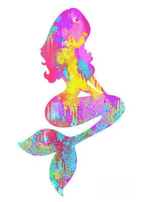 Ariel  The Little Mermaid Poster by Prarthana Kulasekara