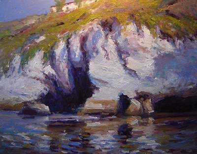 Sea Cliffs In Afternoon Light Poster by R W Goetting