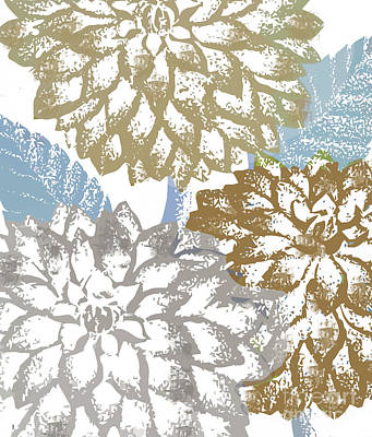 Sea Dahlias II Poster by Mindy Sommers