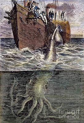 Sea Monster Poster by Granger