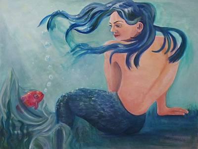 Sea Nymph Poster by Carol Allen Anfinsen