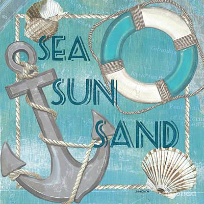 Sea Sun Sand Poster by Debbie DeWitt