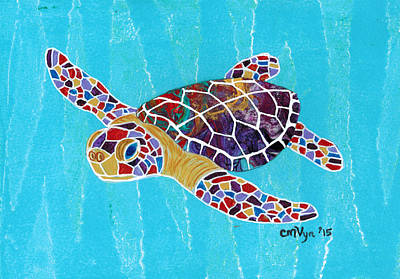 Sea Turtle Poster by Michelle Vyn