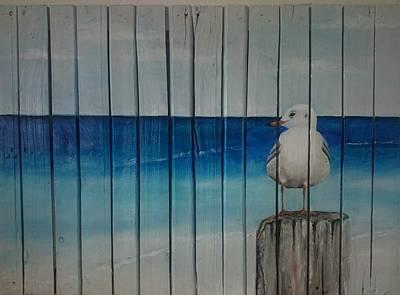 Seagull Poster by Sonja  Roosenhart
