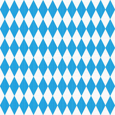 Seamless Oktoberfest Pattern With Fabric Texture Poster by Natalia Ratselmeister