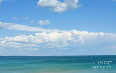 Seascape With Clouds Poster by Irina Afonskaya