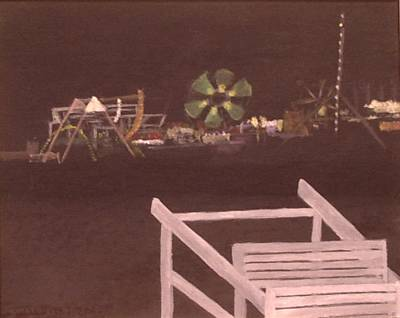 Seaside Night Poster by William Riley