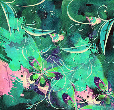 Seasonal Whimsy Poster by Georgiana Romanovna
