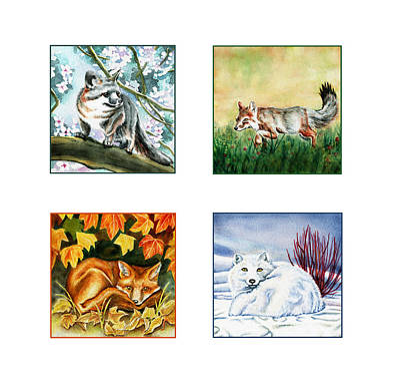 Seasons Of Fox Poster by Antony Galbraith