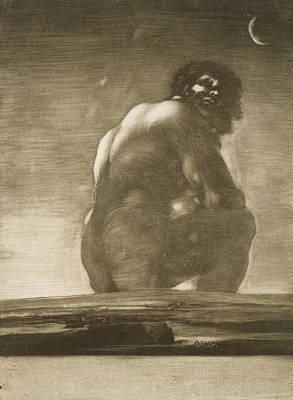 Seated Giant Poster by Francisco Goya