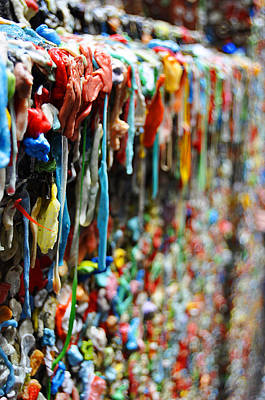 Seattle Post Alley Gum Wall Poster by Pelo Blanco Photo