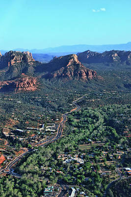 Sedona # 49 - Sedona From Above Poster by Allen Beatty
