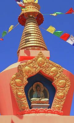 Sedona # 51 - Amitabha Stupa And Peace Park Poster by Allen Beatty