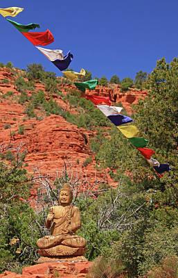 Sedona # 52 - Amitabha Stupa And Peace Park Poster by Allen Beatty
