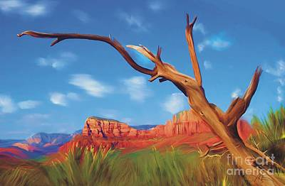 Sedona Red Rock Country Poster by Bob Salo