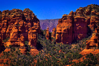 Sedona Rock Formations II Poster by David Patterson